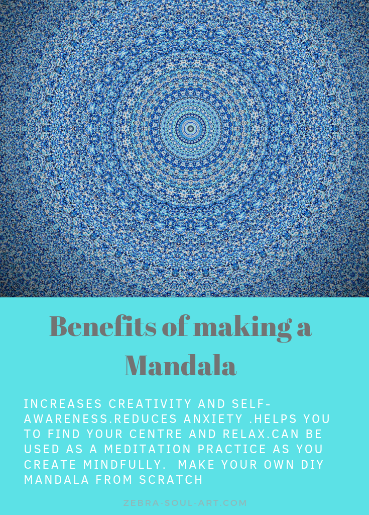 Benefits of a DIY Mandala / Mandalas have a great effect on us when we make them from scratch