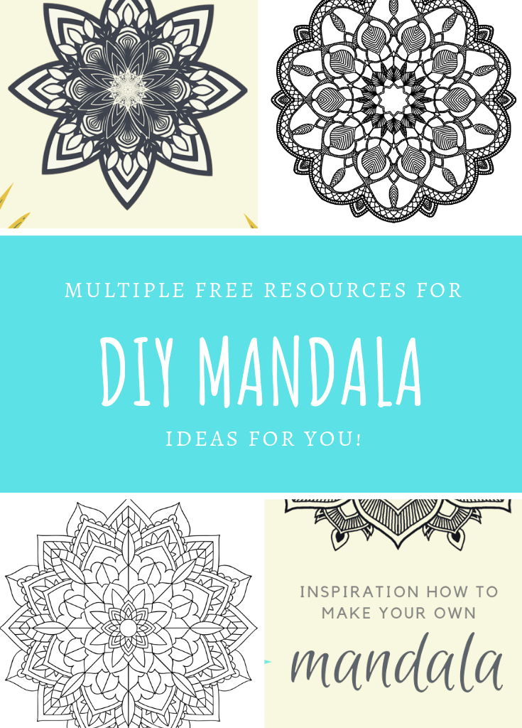 Multiple DIY Mandala Ideas