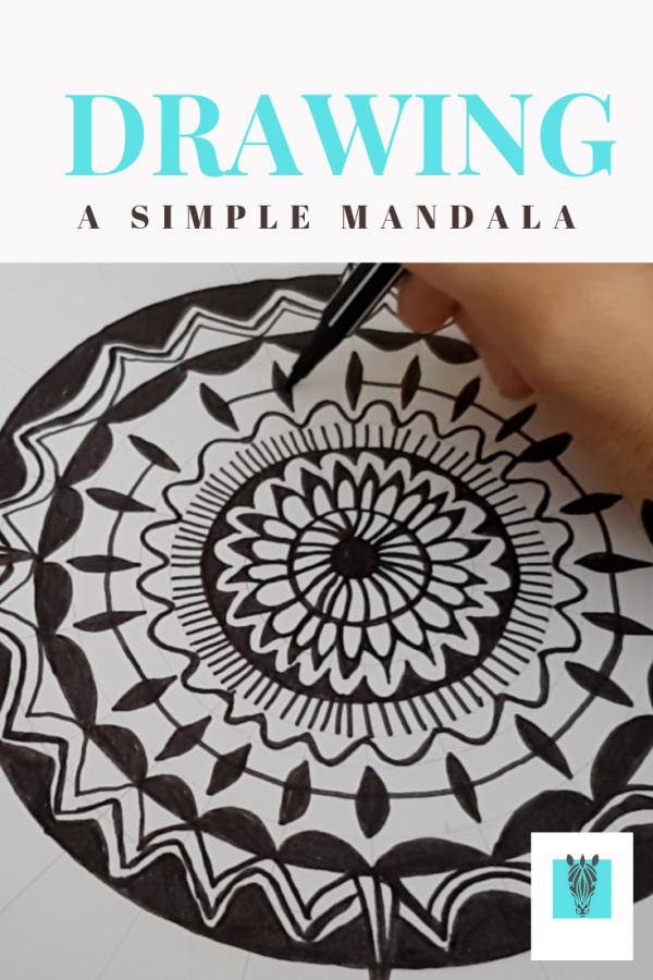Drawing a simple mandala by Zebra Soul Art on Youtube