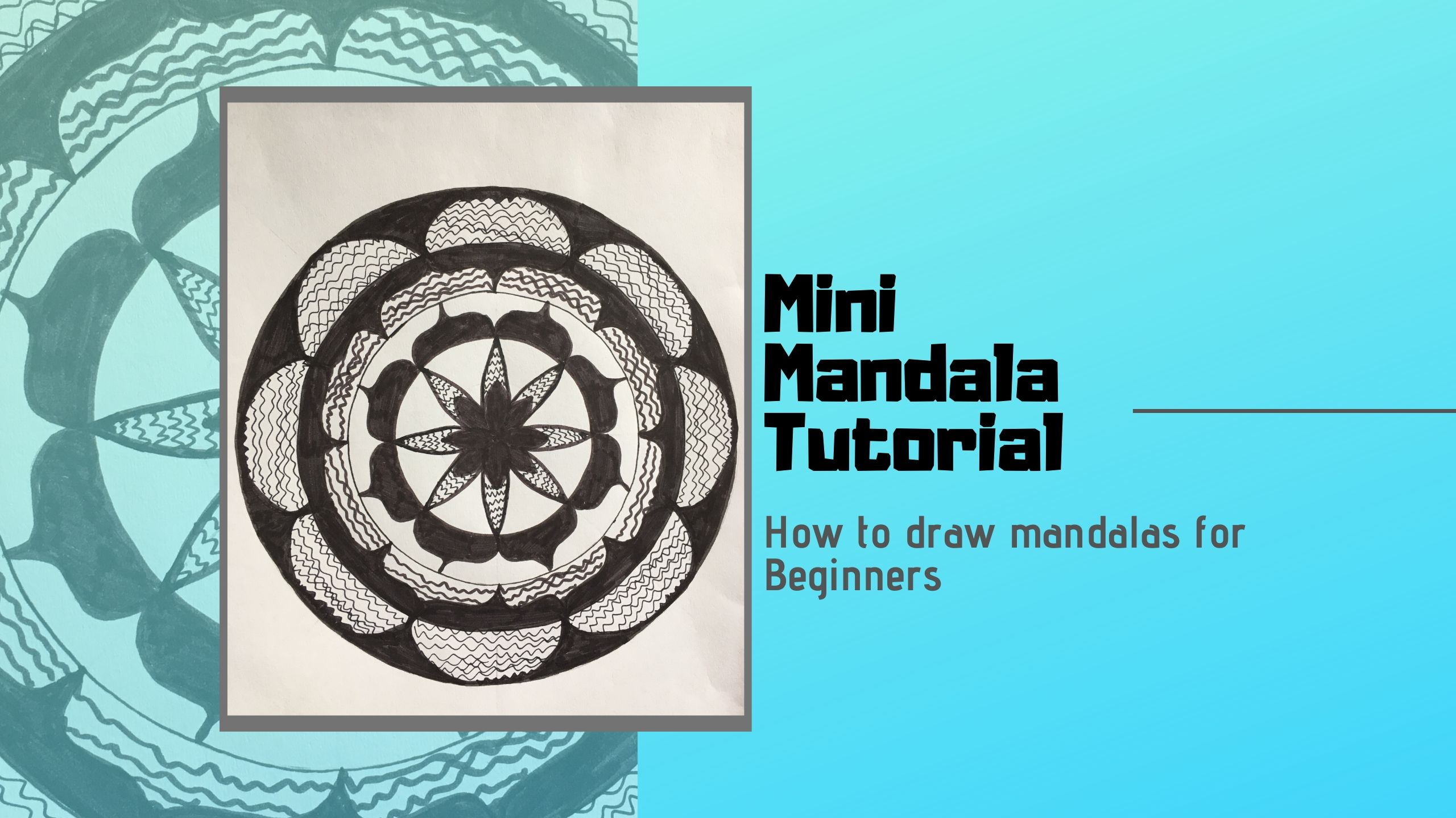 Mini How to draw Mandala Beginner Tutorial