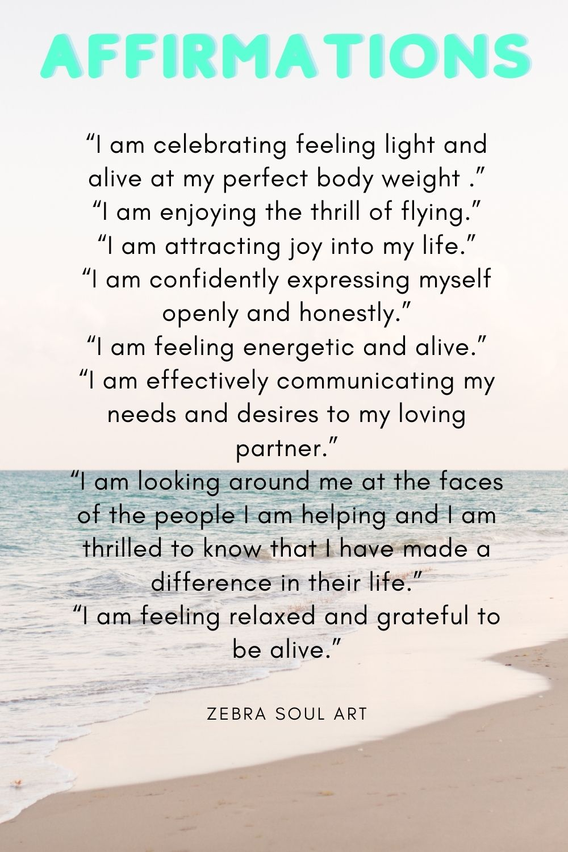 positive affirmations-zebra soul art