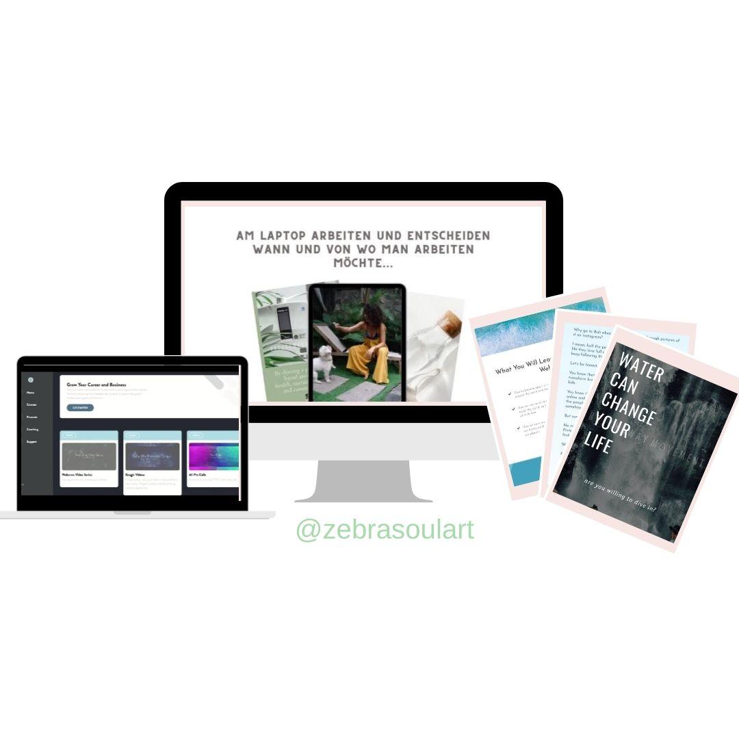 arbeite von zu hause- gratis webclass zebra soul art