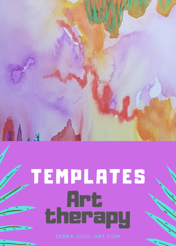 FREE Art Therapy templates : Zebra Soul Art