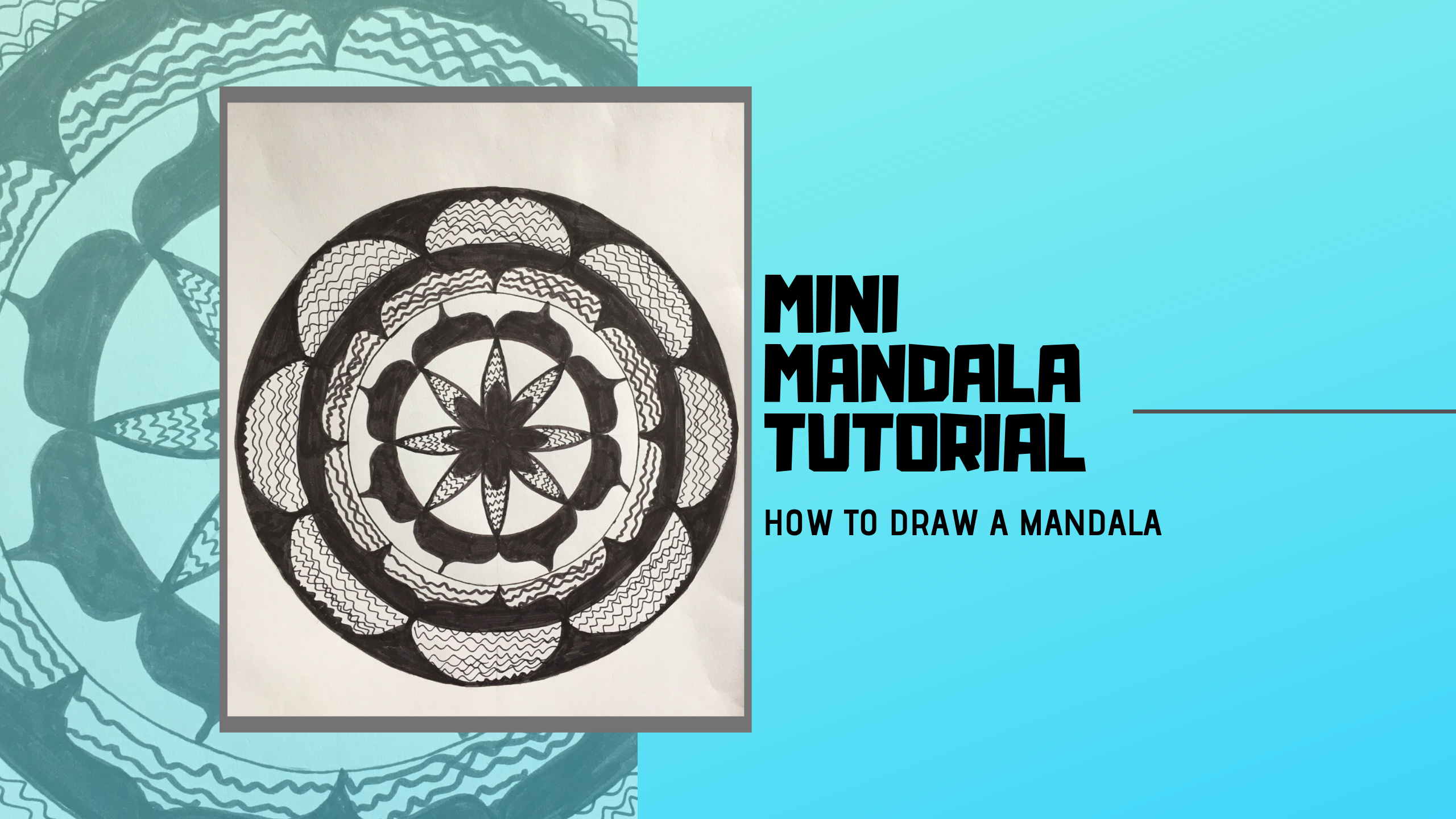 Mini Mandala Video Tutorial for Beginner- 1,5 hours of content to teach you a structured method how to make your first simple DIY MANDALA. The course is completely free