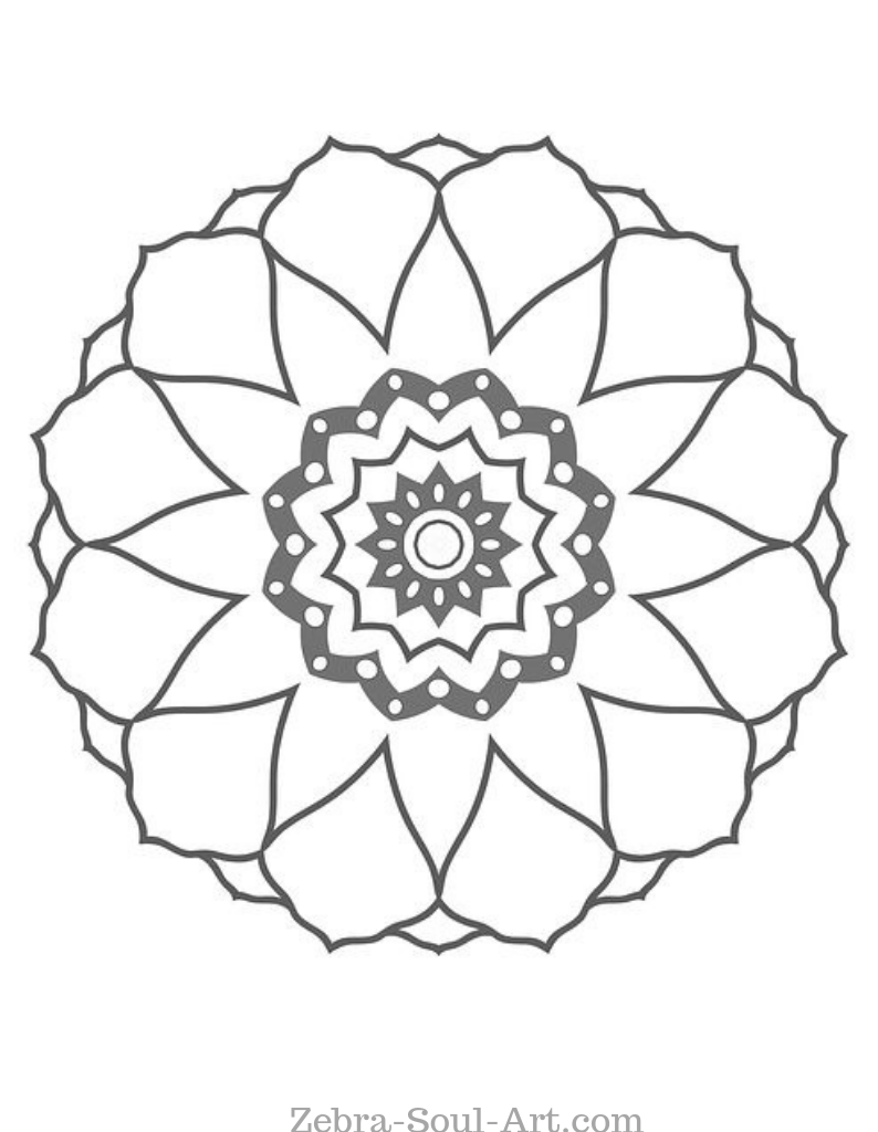 Simple Mandala Template